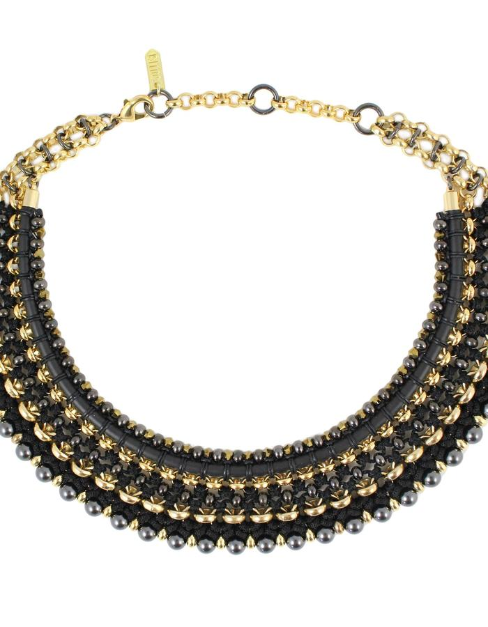 Omo necklace in black by Sollis jewellery