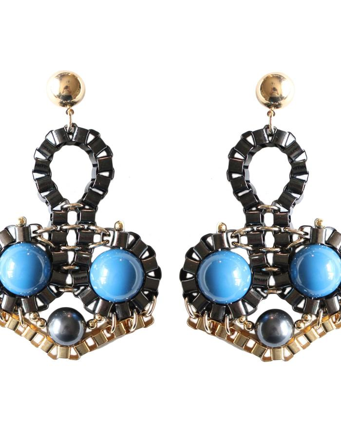 Statement earrings by Sollis jewellery