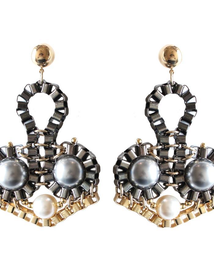Statement earrings by Sollis jewelry