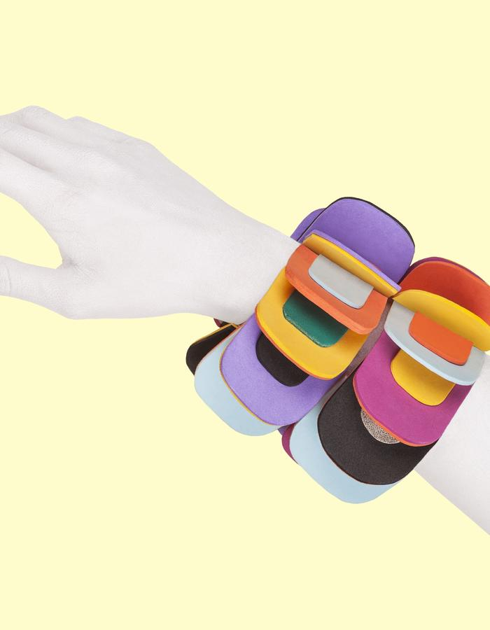 Bracelet made of neoprene, PVC and leather