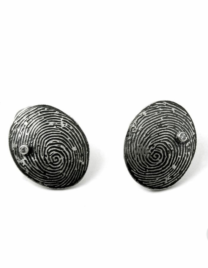 Fingerprints Small Earrings