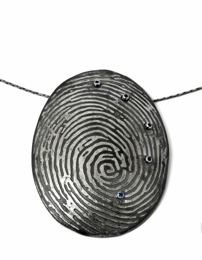 Fingerprints Large Pendant