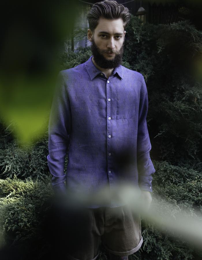 Shirt made from special Italian jacquart fabric