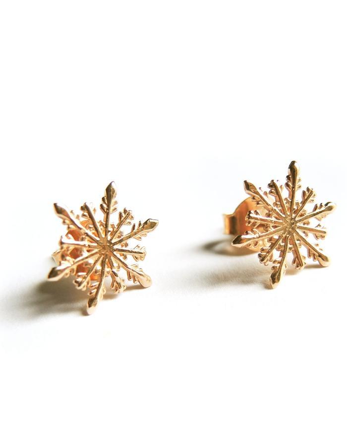 Snowflake Earrings YG