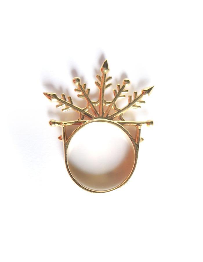 Snowflake Ring YG