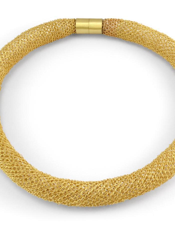 """Mil Fios"" - 19kt Gold Crochet necklace"