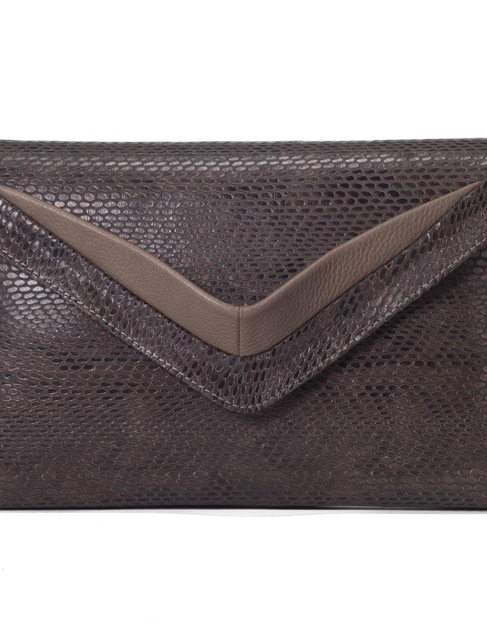 Triangle clutch bag with removable strap by Colle'cte