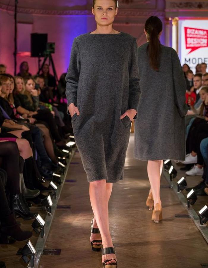 Grey Wool Dress
