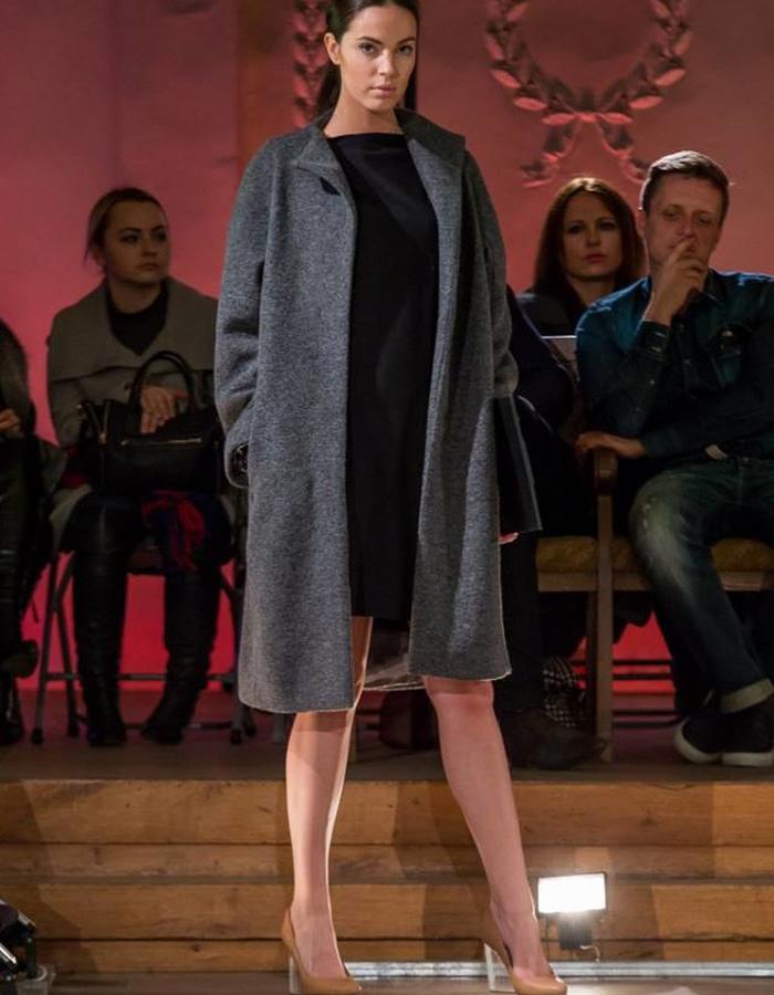 Grey  Unisex Wool Coat