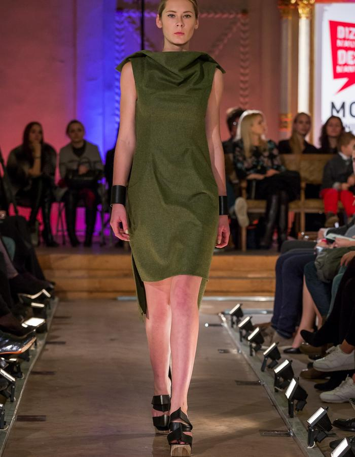 Green Wool Dress