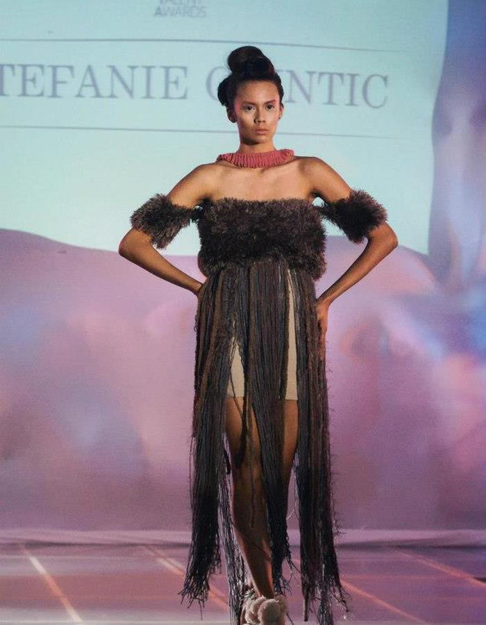 Designer Tipay Caintic's 1st runway show as a student designer.