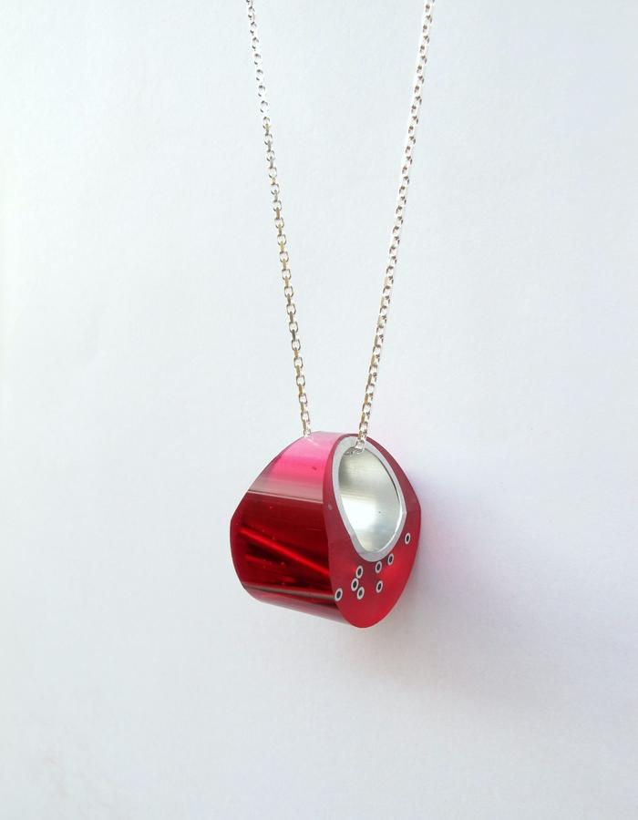 Pink Maki Necklace/Removable Ring
