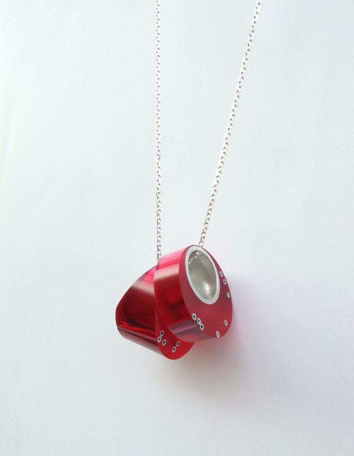 Pink Maki Necklace/Removable Rings