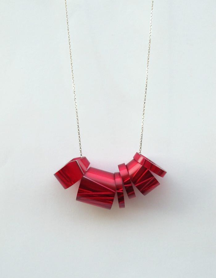 Pink Maki Roll Large Necklace/Removable Rings