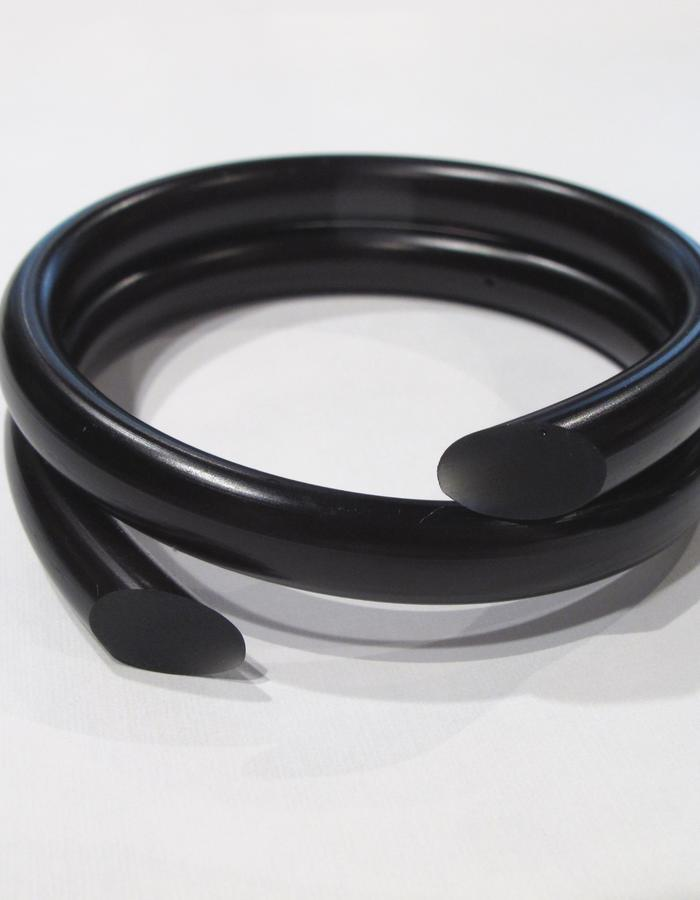 Black Swirl Bangle