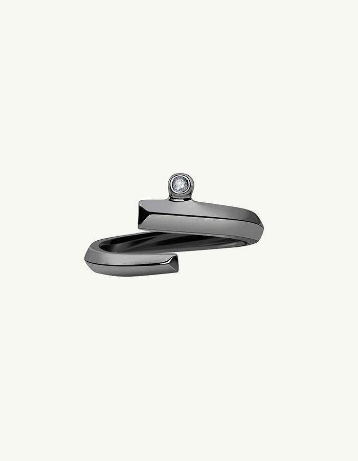 PYTHIA COIL DIAMOND RING - Black -1