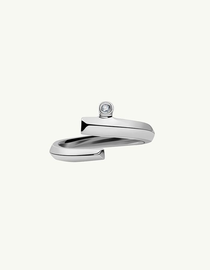 PYTHIA COIL DIAMOND RING - White -1