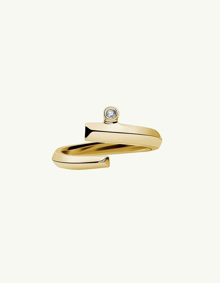 PYTHIA COIL DIAMOND RING - Yellow -1