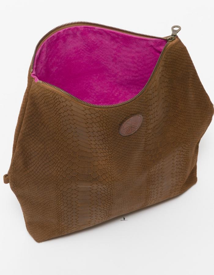 KGW bags - Tanned Brown 'Dragon II' clutch