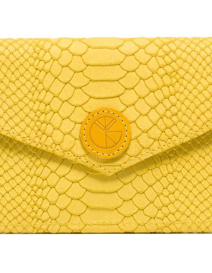 KGW bags - Lemon Yellow 'Dragon III' mini clutch / wallet