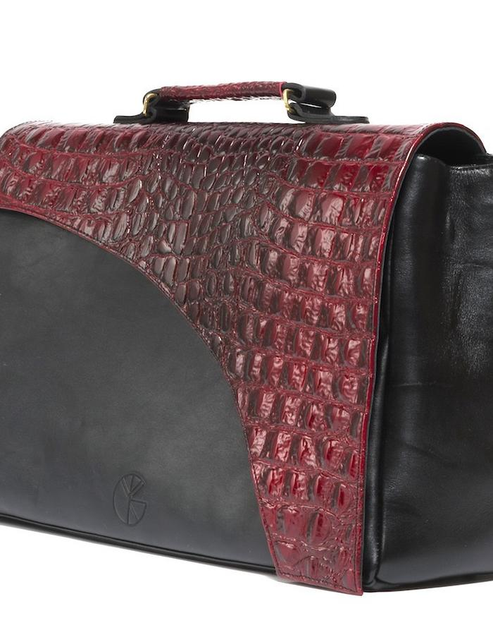 KGW bags - Red & Black tote