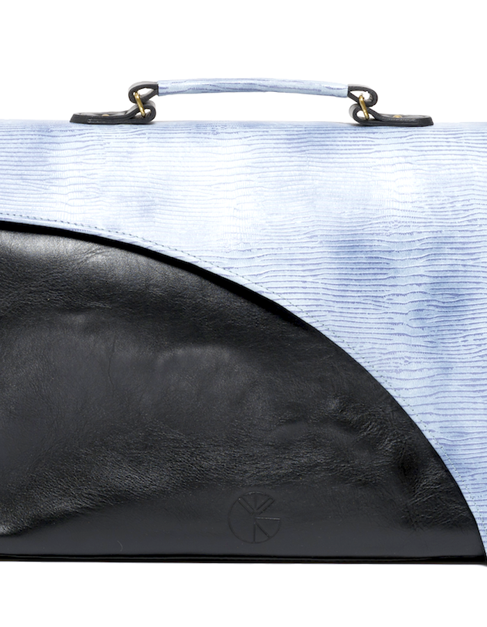 KGW bags - Sky Blue & Black tote