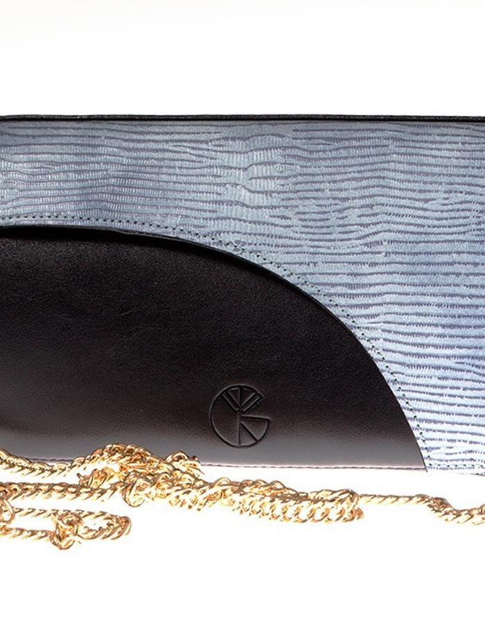 KGW bags - Sky Blue & Black mini shoulder bag / wallet
