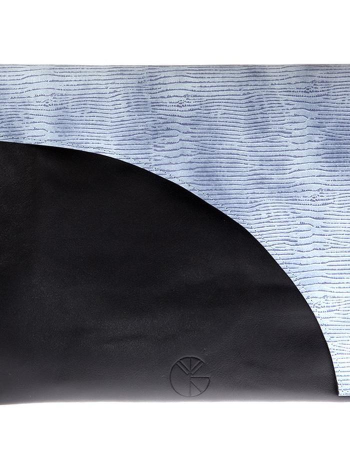 KGW bags - Sky Blue & Black clutch