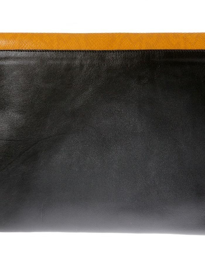 KGW bags - Yellow & Black clutch