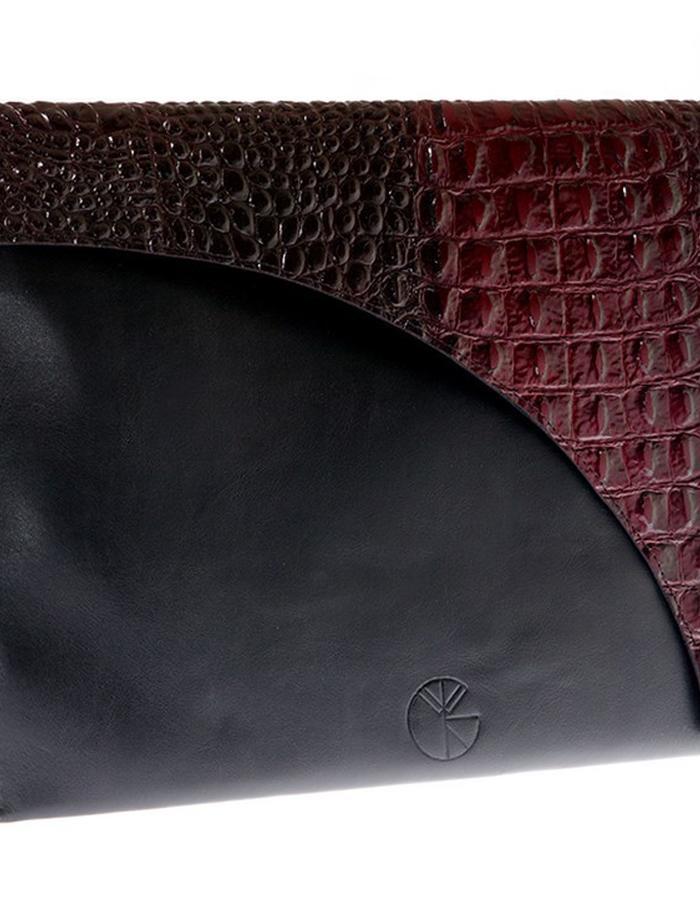 KGW bags - Red & Black clutch