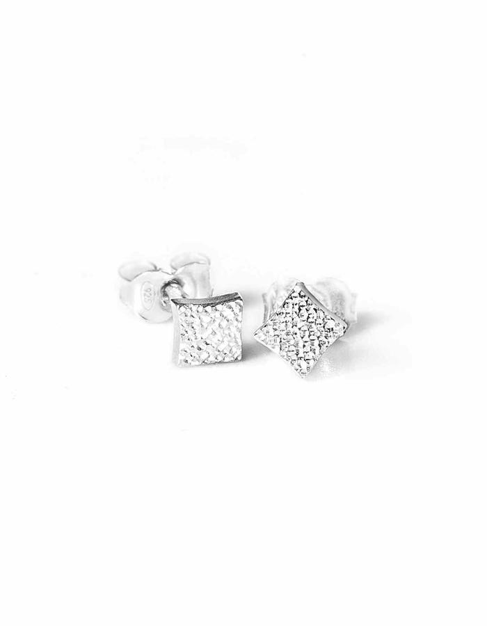 KGW by S.B. - Small sterling silver studs with dotted pattern