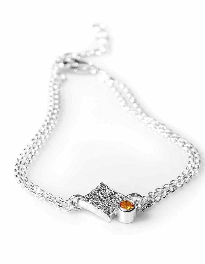 KGW by S.B. - Sterling silver single chain bracelet with Citrone