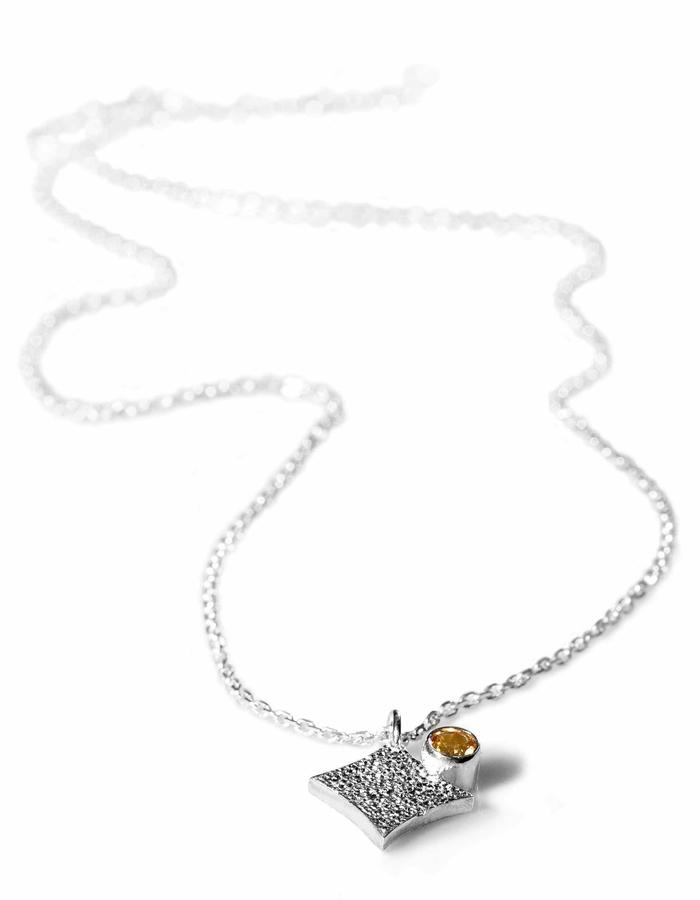 KGW by S.B. - Sterling silver necklace with Citrone