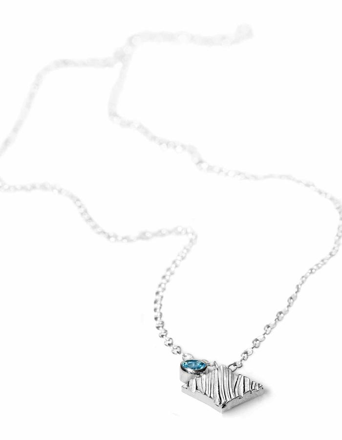 KGW by S.B. - Sterling silver necklace with Swiss Topaz