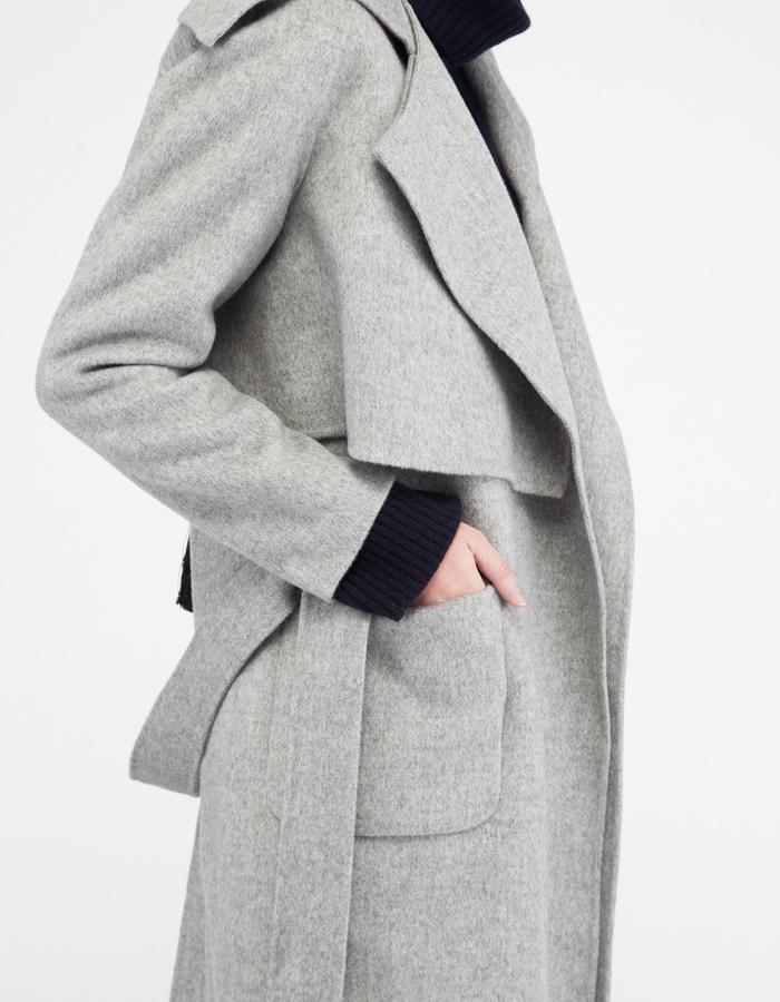 Mute by JL signature 2-piece handmade cashmere coat JL001