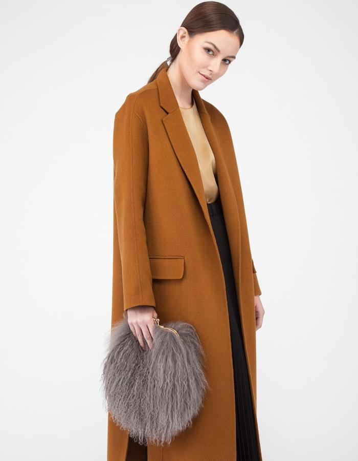 Mute by JL camel coat with slit 2