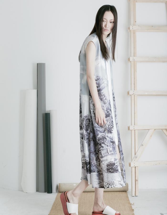 Mute by JL 2015 Spring silk vest
