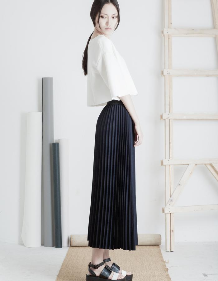 Mute by JL 2015 Spring pleated skirt