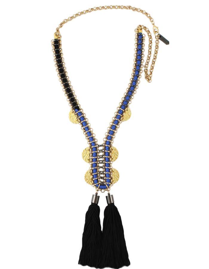 Raffa tassel necklace by Sollis Jewellery