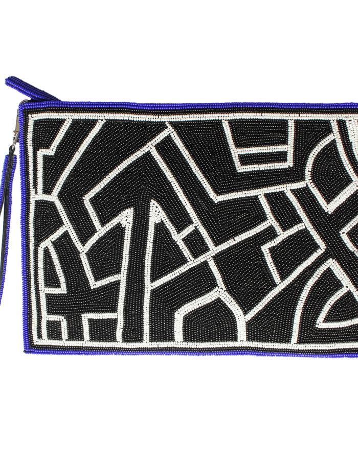 Kuba beaded clutch bag by Sollis Jewellery