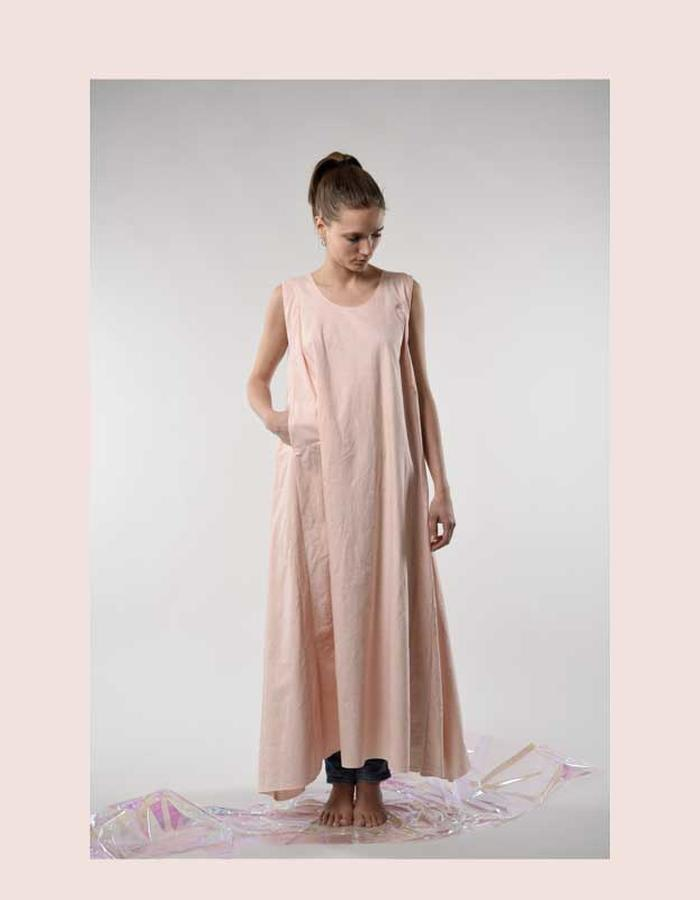 STILL garments vintage cotton rose maxi dress zero waste