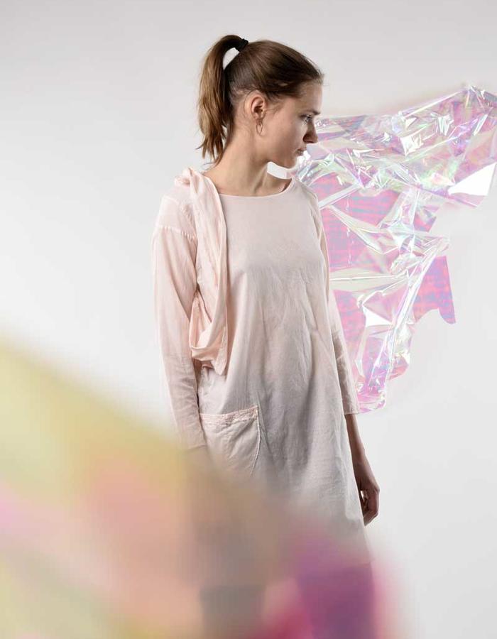 STILL garments rose zero waste scarf dress