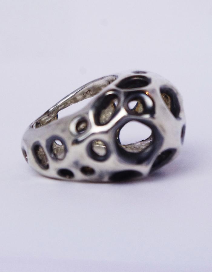 """FLAWED"", handmade silver ring, 2016"