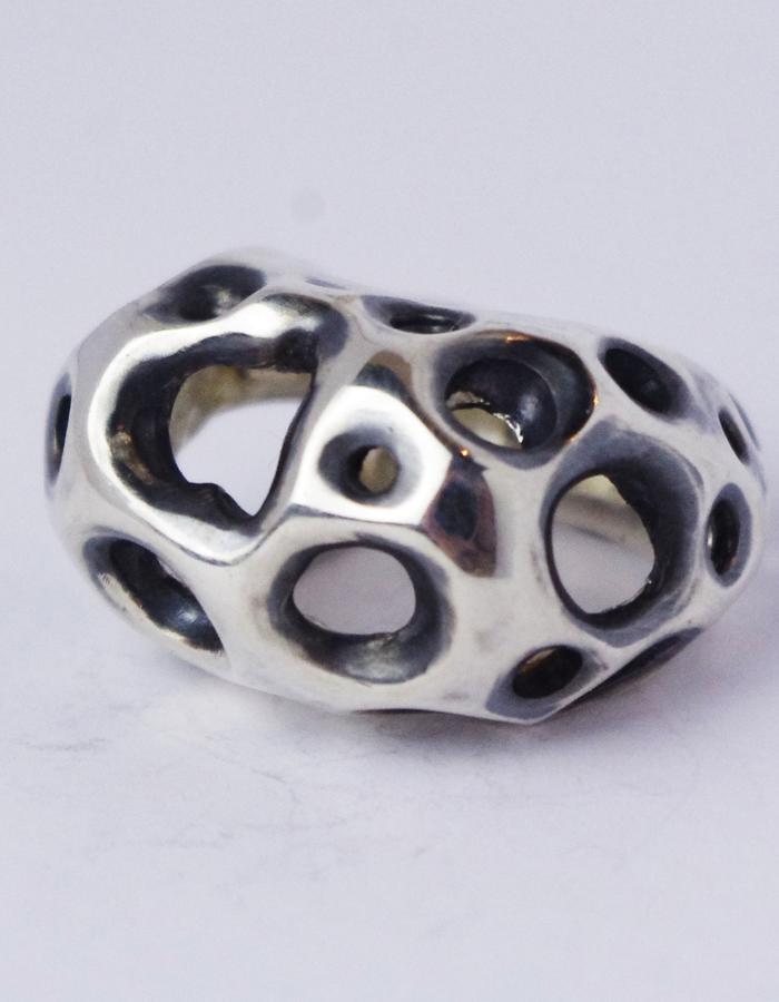 """FLAWED"", handmade silver ring , 2016"