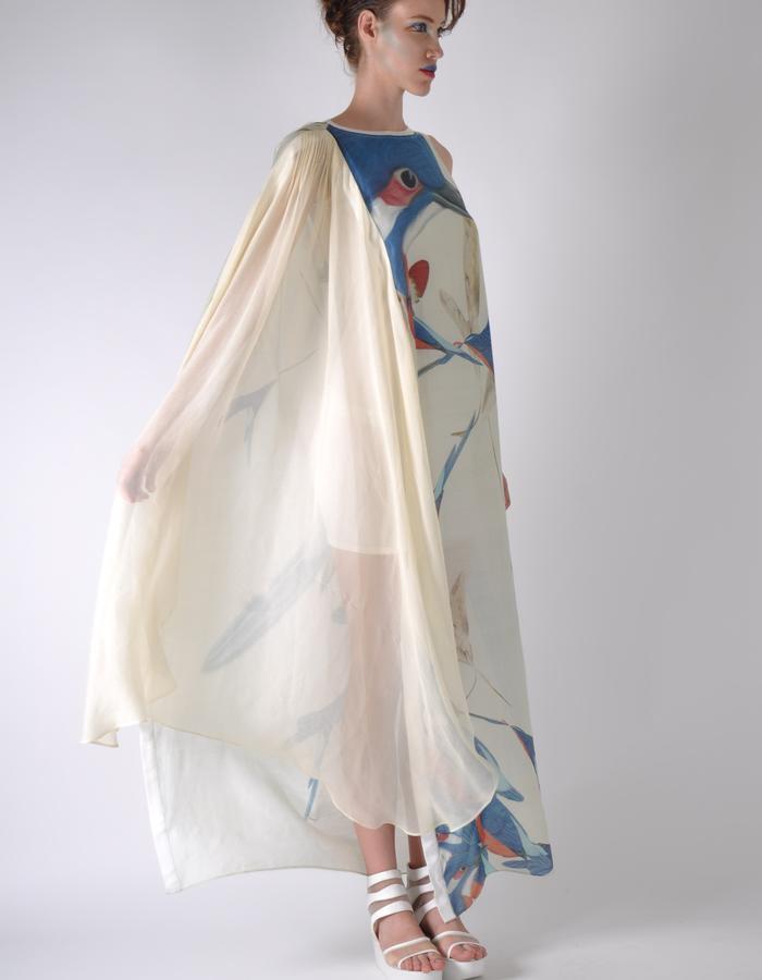 gaia bird shift dress.