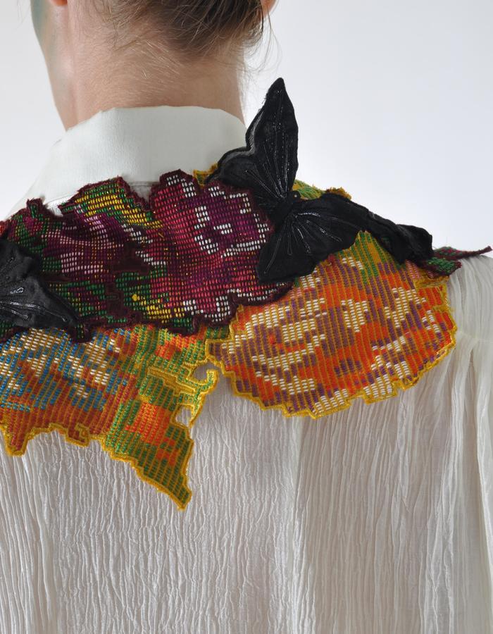 hand woven dakmanda floral cape.