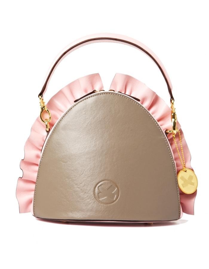 marie de la roche moscow bag pink pantone italian leather back
