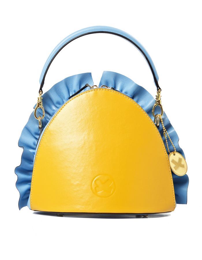 marie de la roche moscow bag baby blue pantone italian leather back
