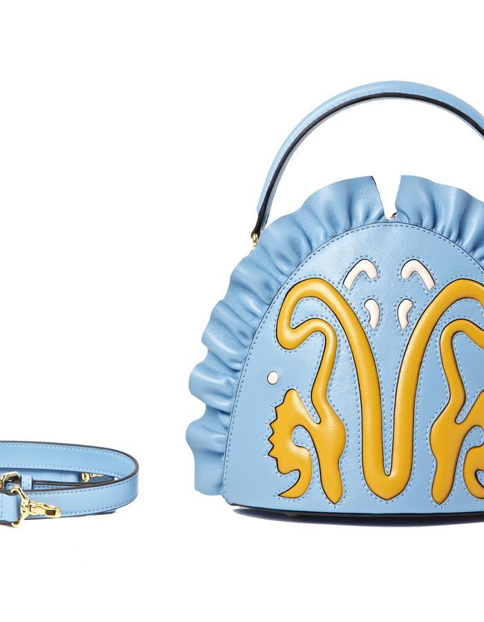 marie de la roche moscow bag baby blue pantone italian leather front2