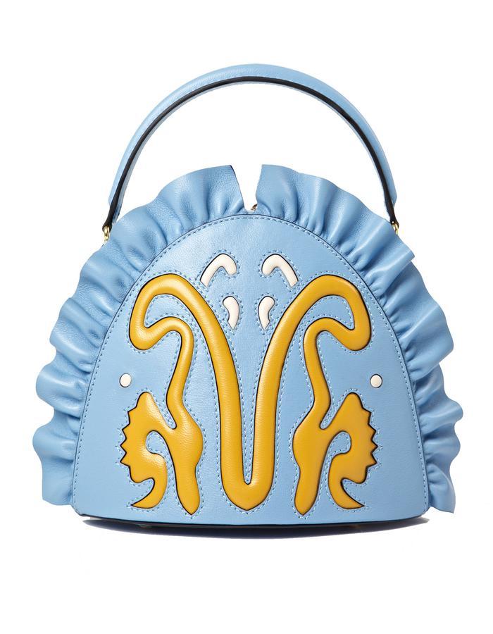 marie de la roche moscow bag baby blue pantone italian leather